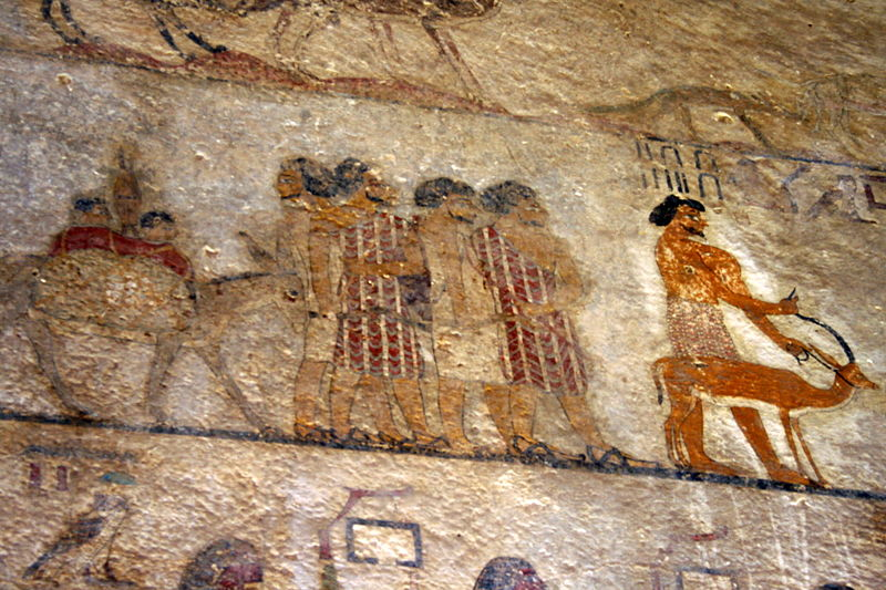 Abraham in egypt for Beni hasan mural
